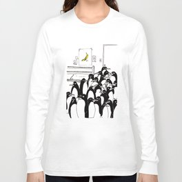 penguins in the bedroom Long Sleeve T-shirt