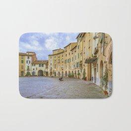 Piazza Anfiteatro, Lucca City, Italy Bath Mat