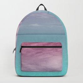 Varadero beach with pink sky Backpack