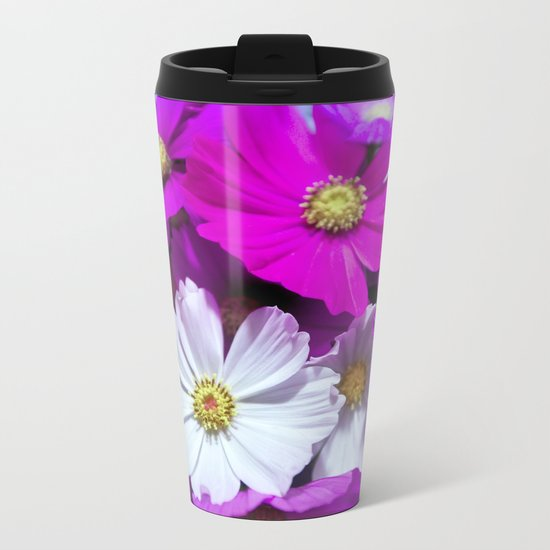 Wild Bouquet of Flowers Metal Travel Mug