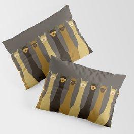 Triple LLAMAS ALPACAS CAMELS - Dark Pillow Sham