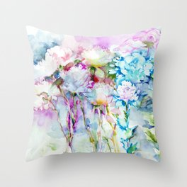 infinite love for the flowers Throw Pillow