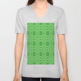 Green Floral Pattern Unisex V-Neck