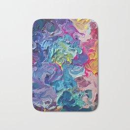 Rainbow Flow Abstraction Bath Mat