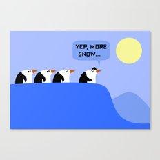 Penguins on a Quest Canvas Print