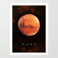 mars Art Prints featuring MARS by Alexander Pohl