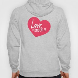 Love and Knuckles (Heart Graphic) Hoody