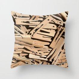 Clothespin Throw Pillow