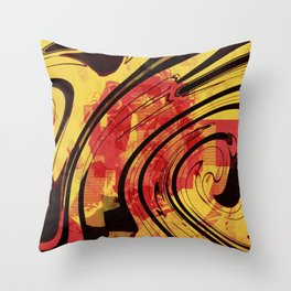 Her Plastered Insouciance  Throw Pillow