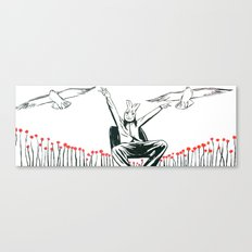 Birdie with Birds Canvas Print