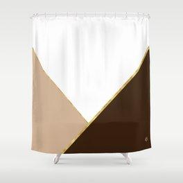 Autumn Brown Gold Shower Curtain