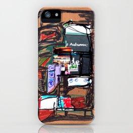 Autumn blackboard iPhone Case