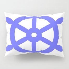 Ship Wheel (Azure & White) Pillow Sham