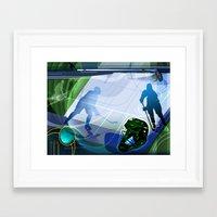 hockey Framed Art Prints featuring Hockey by Robin Curtiss