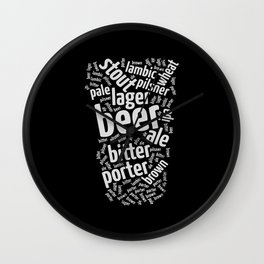 Beer Glass Word Wall Clock