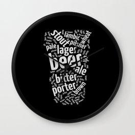 Beer Glass Word Wall Clock