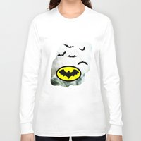 bat man Long Sleeve T-shirts featuring Bat man  by haroulita