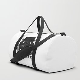 'JEEPLIFE' Black and white Duffle Bag