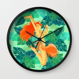 Summer Caipirinha - Tropical Bliss Wall Clock