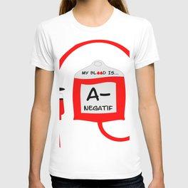 Blood A Negatif T-shirt