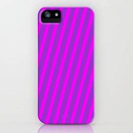 Dark Orchid & Fuchsia Colored Stripes/Lines Pattern iPhone Case