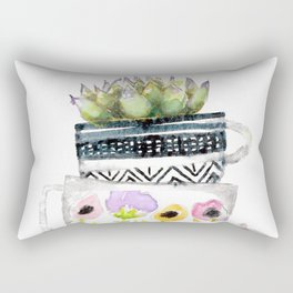 Cups on Cups on Cups Rectangular Pillow
