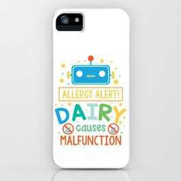 Dairy Allergy - Lactose Intolerance - Milk and Cheese iPhone Case