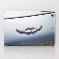 james bond iPad Cases featuring Vintage car sign Aston Martin DB6 David Brown James Bond by Premium