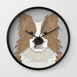 Border Collie - blond Wall Clock