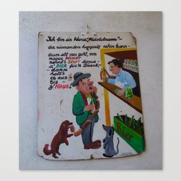 wiener würstelmann Canvas Print