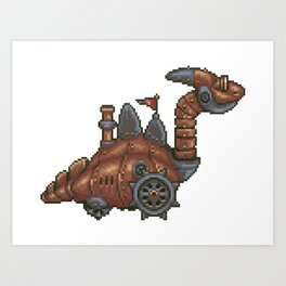 Chrono Trigger Dragon Tank Art Print