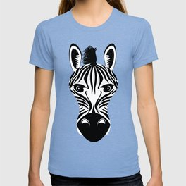 Zebra Black and White Pattern T-shirt