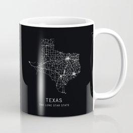 Texas State Road Map Coffee Mug