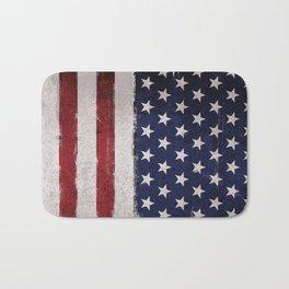 American flag Vintage Grunge Bath Mat