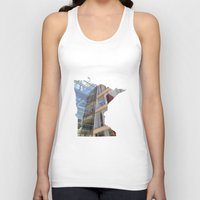 minnesota Tank Tops featuring Minnesota ii by Isabel Moreno-Garcia