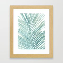 Abstract Palm Leaves | Mint Green Framed Art Print