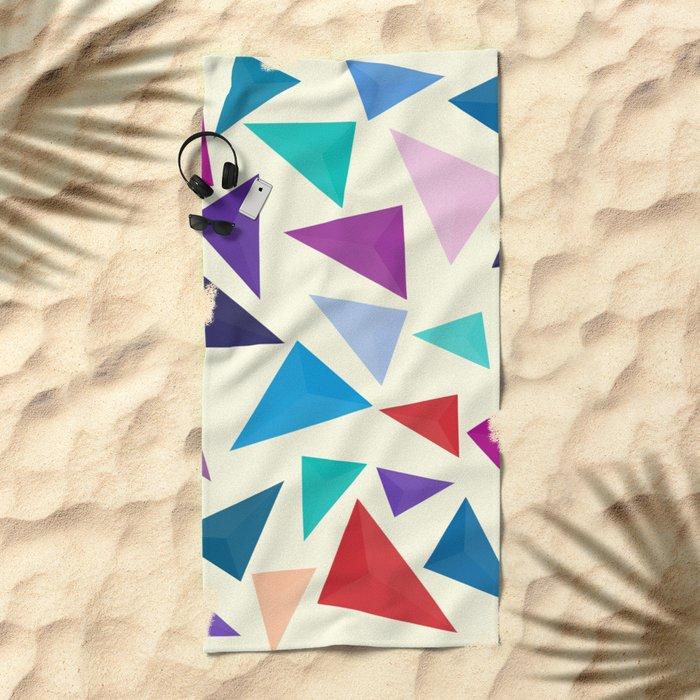 Colorful geometric pattern Beach Towel