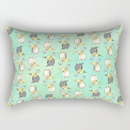 Confused Cockatiel - Pattern Rectangular Pillow