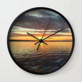 Sunbeam in the cloudy sky  Wall Clock