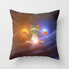 Zen Frog Throw Pillow