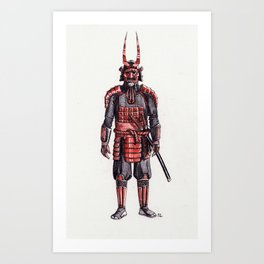 samurai, the villain Art Print