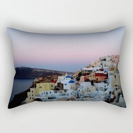 Dawn of Santorini Greece Rectangular Pillow