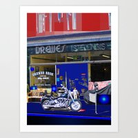 moto Art Prints featuring Moto by Davey Charles
