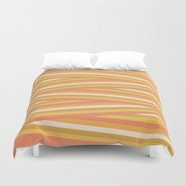 stripey sunny square Duvet Cover