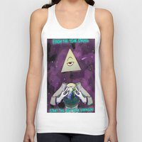 illuminati Tank Tops featuring Illuminati  by Static-Thing