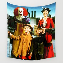 PENNYWISE IN MARY POPPINS Wall Tapestry