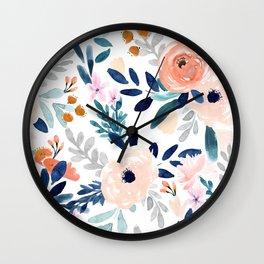 Jolene Floral Wall Clock