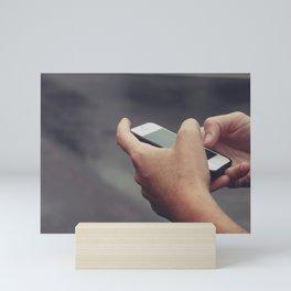 Texting Photo Mini Art Print