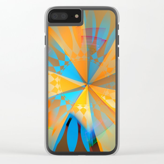 Thinking of a blue sky and the summer sun Clear iPhone Case