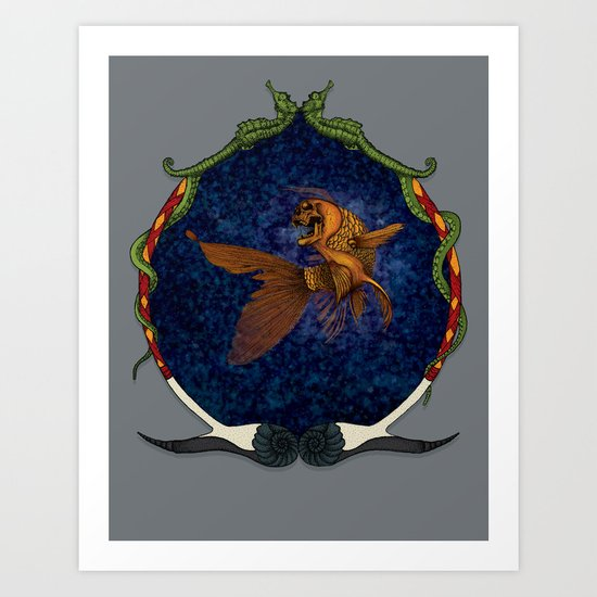 All that glitters... //color//framed// Art Print